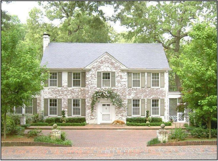 Image Result For Cute Bungalow Sage Shutters Exterior Brick Whitewash Brick House Painted Brick Exteriors