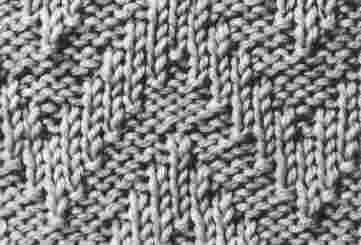 Encyclopédie des points de tricot. LE POINT Cotes en Chevrons: En Chevrons