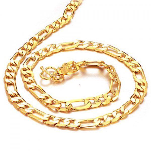 Chic Link Gold Necklace For Men #women, #men, #hats, #watches, #belts, #fashion, #style