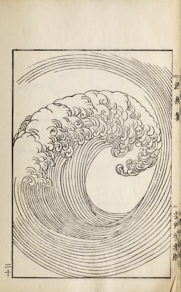 From the book Ha Bun Shu, by Mori Yusan, Japan 1919,  or Hamon Shuu: Collection of Wave & Ripple Designs, by Yuzan Mori, Kyoto 1903