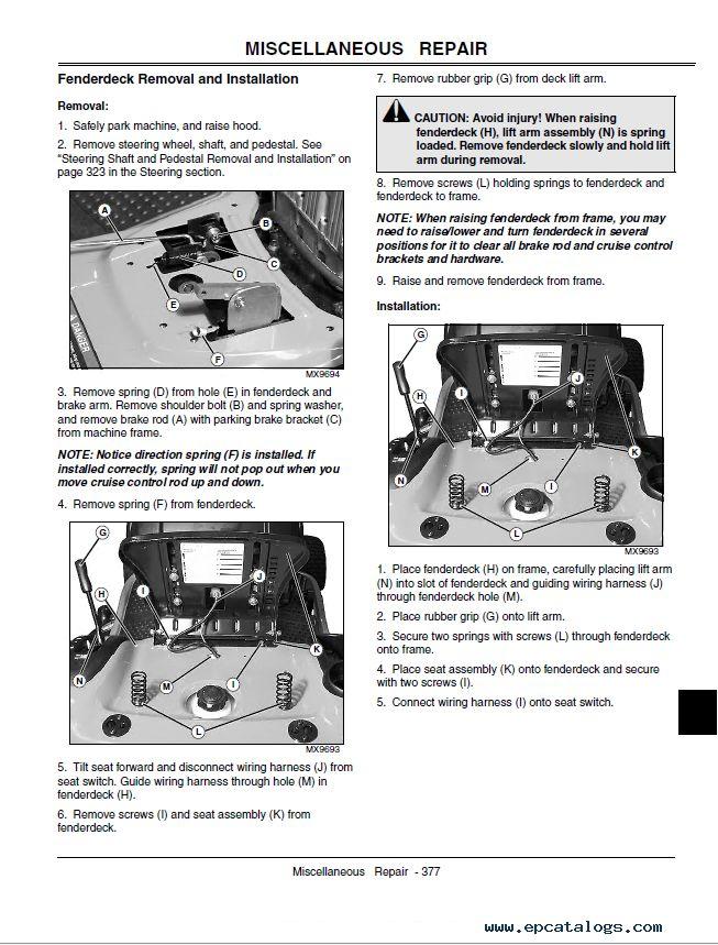 repair manual John Deere L100 L110 L120 L130 Lawn Tractors Technical Manual PDF TM2026 - 6