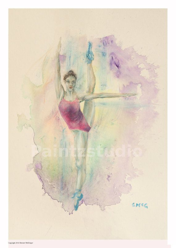 Ballet dancer print ballerina dancer art decor by Paintzstudio
