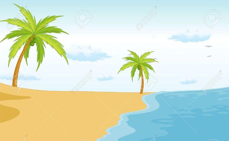 Cartoon Beach Scenery images