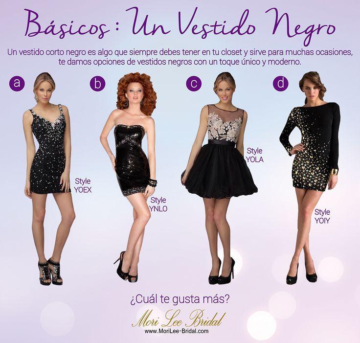 Recuerda que siempre debes tener un vestido corto negro en tu closet, es un básico que te hará ver elegante y te servirá para muchas ocasiones. ¿Cuál de estos prefieres?