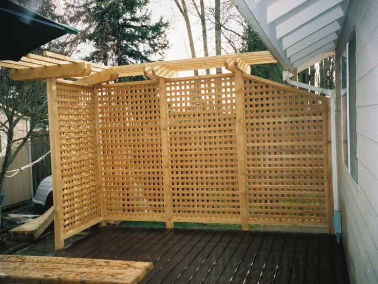 Outdoor , Attractive Privacy Ideas for Decks Giving Chic Backyard Look : Outdoor Privacy Deck With Awesome Look