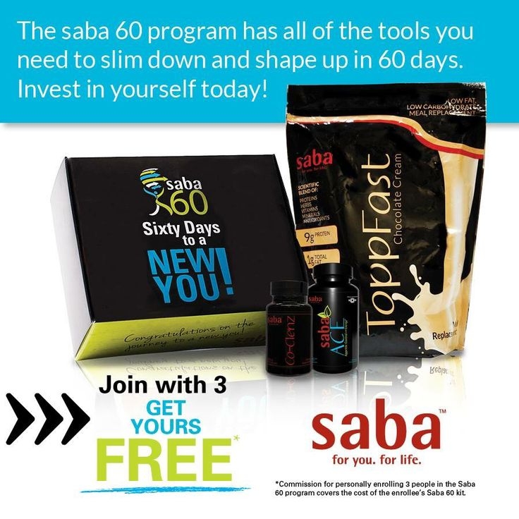 THE #SABA 60 #PROGRAM HAS ALL THE TOOLS you need to slim down and shape up in 60…