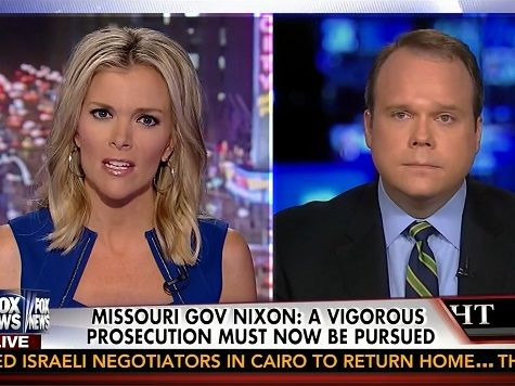 "Fox News Channel anchor Megyn Kelly criticized Gov. Jay Nixon (D-MO) for a statement he released on Tuesday calling for ""a vigorous prosecution,"" ""justice for the family of Michael Brown"" and ""justice for Michael Brown."""