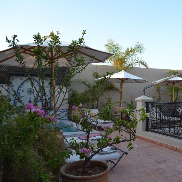 Sunbathing area at Riad le Clos des Arts www.leclosdesarts.com