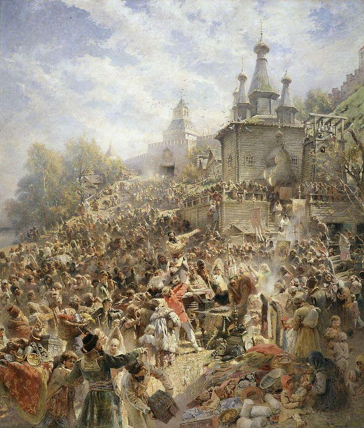 Appeal of Minin - Konstantin Makovsky - 1896