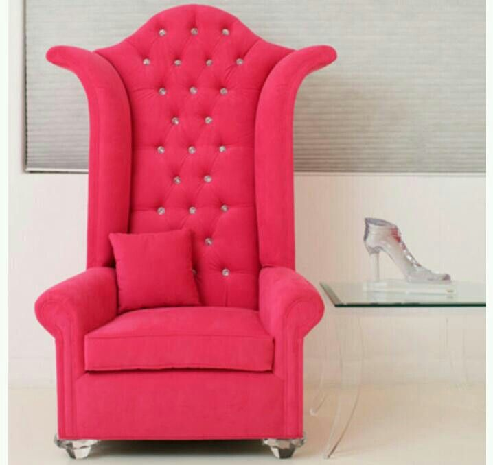 Pink High Back Chair
