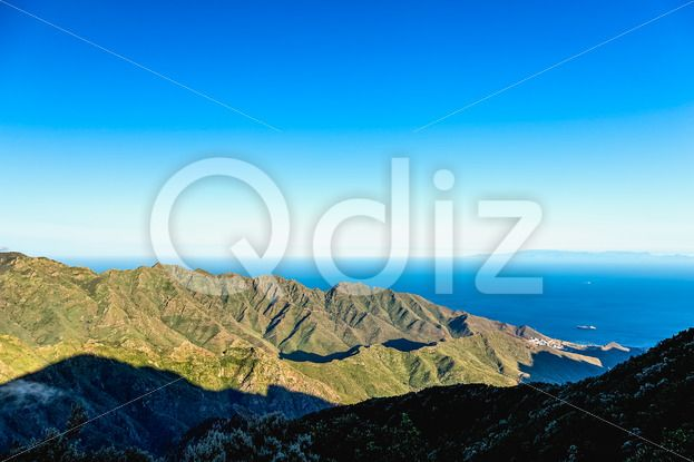 Qdiz Stock Photos | Coast or shore of Atlantic ocean,  #Atlantic #blue #Canary #coast #green #horizon #island #landscape #mountain #nature #ocean #rock #scenicviewday #sea #sky #skyline #Spain #spring #summer #Tenerife