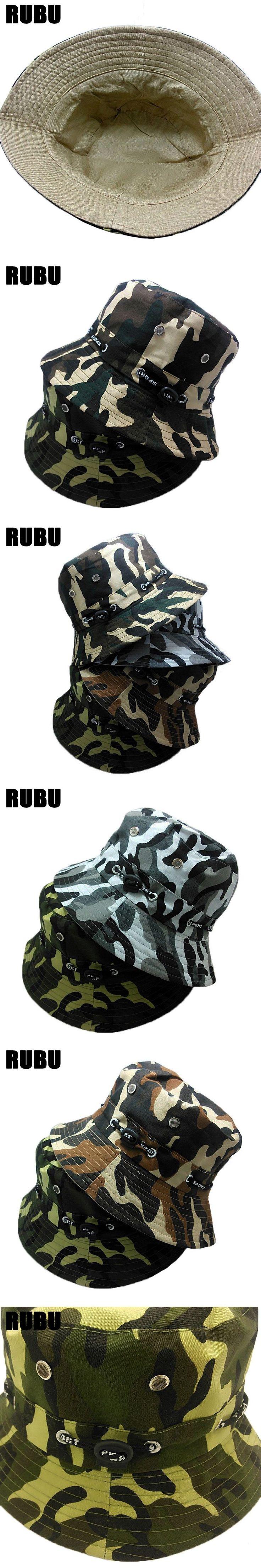 Fashion Camo Bucket Hat Men Military Cap More Color Camo Bucket Hat For Women Sun Protection Fisherman Hat Summer Sun Caps #MilitaryHatsForWomen