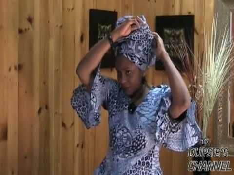 How to tie your African Head wrap, Scarf.  Start with 1-2 yards of fabric or a long, wide scarf.