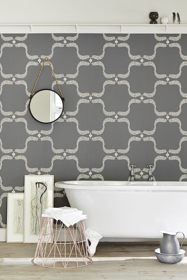 Up the Garden Path, Wall Covering in Charcoal