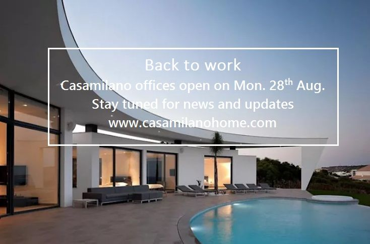 #backtowork Casamilano offices open on Monday, Aug. 28. Stay tuned for news and updates!