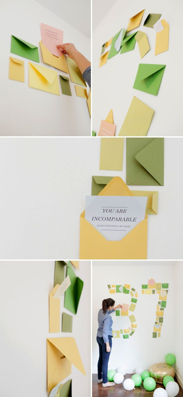 What a Unique way of saying Happy Birthday! Number Shaped Envelope Surprise | Oh Happy Day!