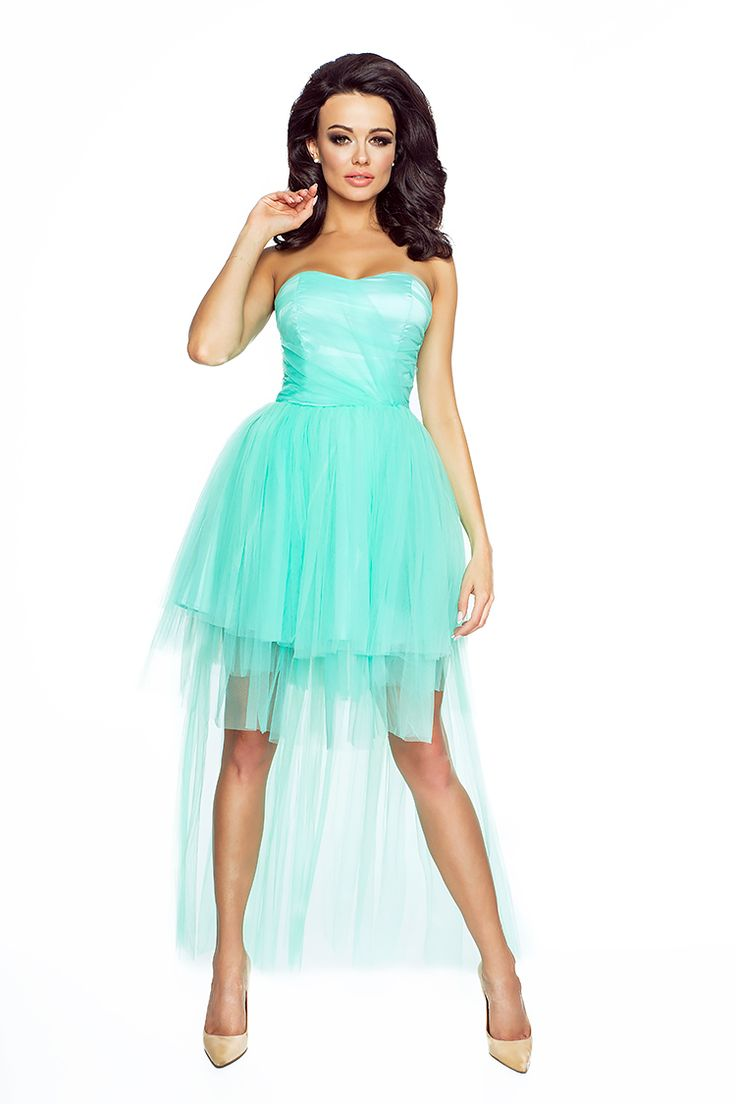 Minty Tulle Prom / Wedding / Party Bandeau Dress