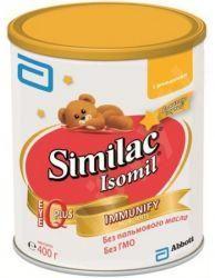 """Симилак Изомил смесь сухая молочная для детей 400г  — 623р. ---- Similac isomil  Компания """"Abbot""""разработала детское питание, которое основывается только на естественных компонентах, продукция детского питания разнообразна и каждая мама сможет легко подобрать подходящую смесь индивидуально для ее малыша.  Similac isomil, продукт, производителя испанской фирмы """"Abbot""""– сухая адаптированная смесь. Смесь, основанная на белках сои. Идеально подходит для профилактического и лечебного питания…"""