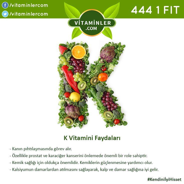 K Vitamini Faydalarını Tüm Sevdiklerinizle Paylaşın! K Vitamini içeren…