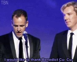 Haha! Ben and Jonny Lee Miller winning an award for Frankenstein