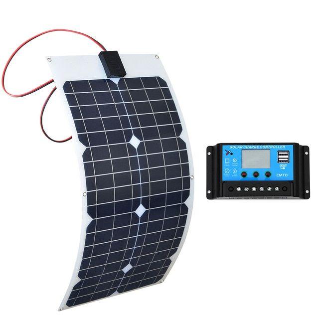 Boguang 30w Flexible Solar Panels 18v Panel Solar Panneau With Controller 10a Solar System Solar System Kit Flexible Solar Panels Monocrystalline Solar Panels