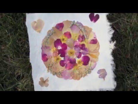 Sur Youtube : Technique de fabrication d'un Mandala de fleurs séchées - Cours en ligne Vidéo par WFormation www.wformation.ca