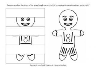 Complete the Gingerbread Man Puzzle