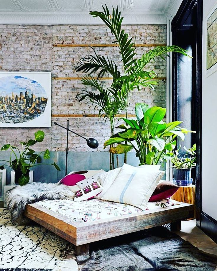 Bedroom decor ideas styling with plants