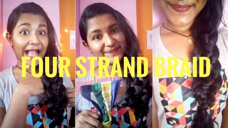 EASIEST Way To Do FOUR STRAND BRAID