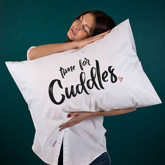 Cuddle pillow Time for cuddles Cute gift for her Valentines day gift Romantic gift Couple gift for girlfriend Anniversary gift Wife present (1 piece)   Fantastic and cute gift idea for your special someone! Lovely home design decor for beautiful and cozy interior!  Pillowcases are