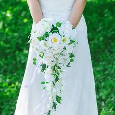Elegant Kaskade Satin/Kunstseide Brautsträuße