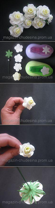 """Мастер-класс цветы из фоамирана """"Маленькая роза"""""""