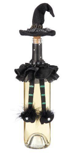Ganz Halloween Wine Bottle Topper Decoration - Bottle Decor Black w/ Green by bttldeco-eh8000-grn22914-6-80, http://www.amazon.com/dp/B004TM9D6W/ref=cm_sw_r_pi_dp_vxA4rb1P96Z7V