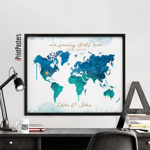 109 best world map posters images on pinterest room wall decor large world map adventure awaits map art by iprintposters on etsy gumiabroncs Images