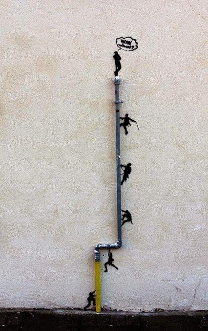 ''Now what?'' Mini street art in London, UK by AFI Steet Art