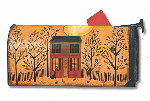 Halloween Glow Large Mailbox Cover Primitive Oversized Holiday MailWraps -- This is an Amazon Associate's Pin. Clicking on the image will lead you to the Amazon website.