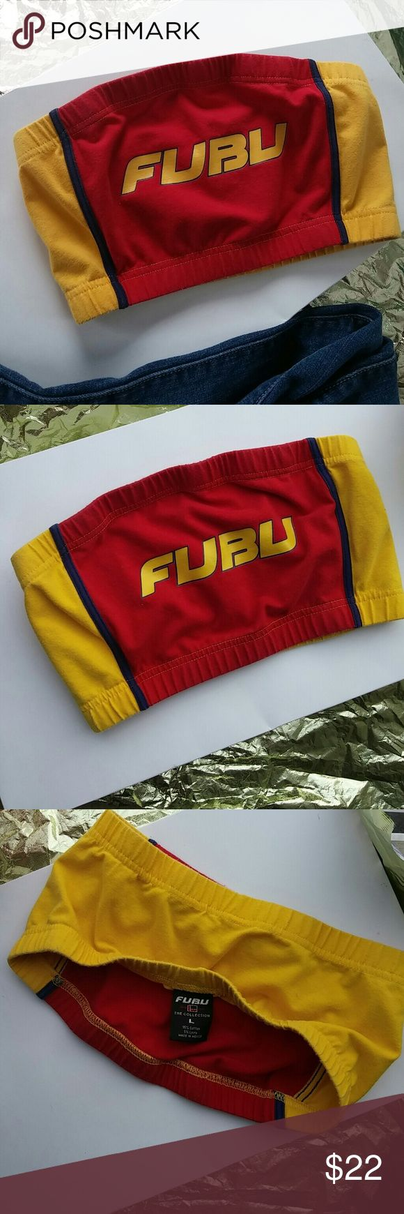 Vintage Fubu tube top Super cute vintage throwback Fubu tube top. Perfect with some baggy jeans. From late 90's. Excellent condition. Size does say large but runs smaller more like a medium. Tops