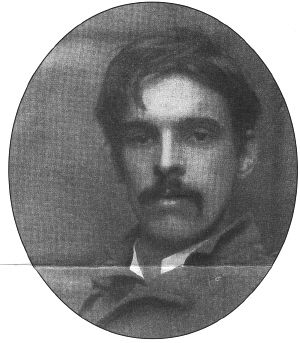 W.B. Yeats.  Wow! never saw him with a mustache before.