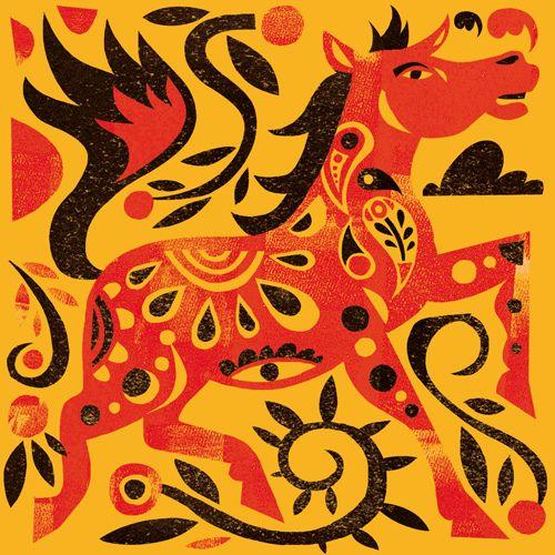 chinese new year : horse