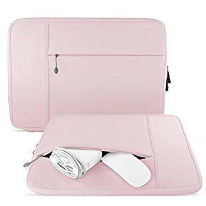 """Amazon.com: Mobility Neoprene Macbook Sleeve - Best Water-Resistant Protective Case For 13"""" MacBook Pro & Air (including Retina) Laptop Computer and Ultrabook - Cover Bag Includes Compartment For Charger - Pink: Computers & Accessories"""