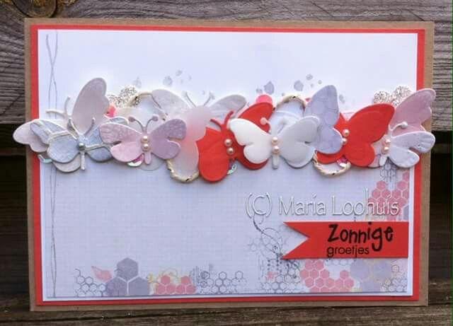 Zonnige (vlinder) groetjes!  Geïnspireerd door een kaart van Inge Blom.