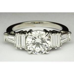 38010126 Kobe Mark Triple Baguette Engagement Ring
