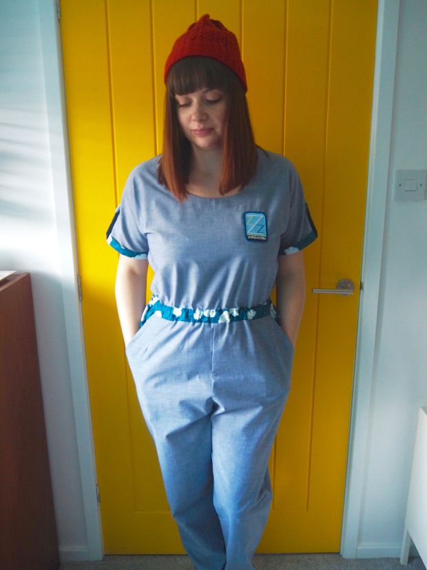 The Life Aquatic Team Zissou inspired Jumpsuit, Tilly & The Buttons Bettine / Marigold Jumpsuit, Wes Anderson