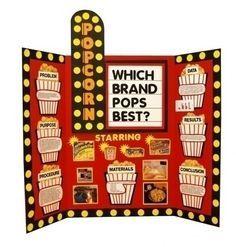Presentation Board Tri Fold Popcorn Creative Board