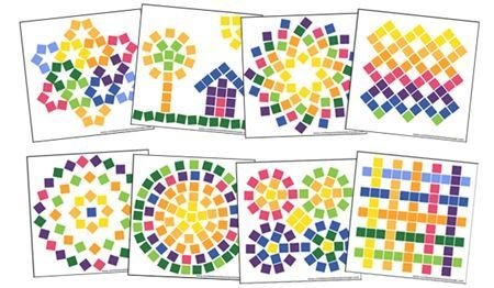 printable mosaic card - Cerca con Google