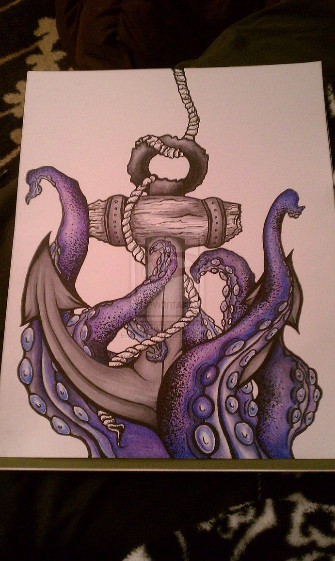 Octopus And Anchor Drawing - Viewing Images