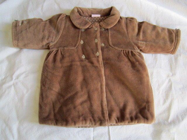 cappotto marrone per neonata da 6-9 mesi