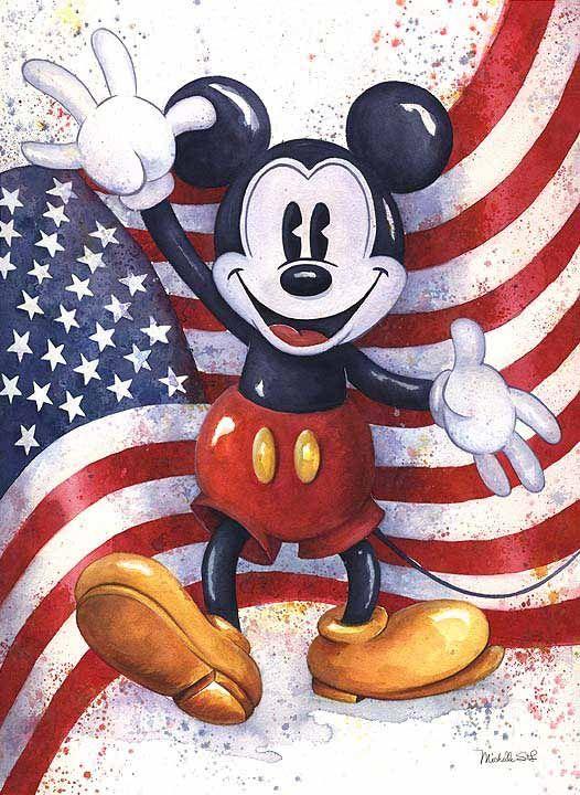 Mickey Americana By Michelle St Laurent Dessin Mickey Mickey Et Minnie Et Dessins Disney