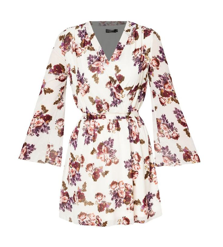 Bell Sleeve Dress by ZALORA. Gorgeous dress with floral pattern print all over, dress with vintage look pattern. Made from polyester fabric, v neck, long sleeves, inner lining, relaxed fit, pair it with sandals and wide hat for your casual look.    http://www.zocko.com/z/JIi6X