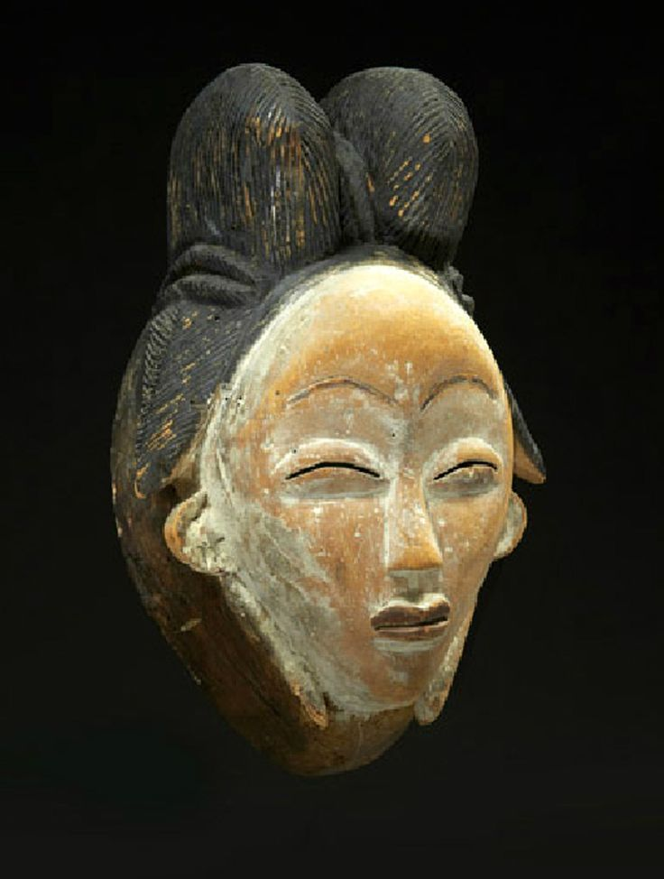 "Africa | ""Okui"" female mask from the Punu people of Gabon 